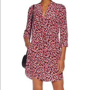 Freya printed silk chiffon mini dress